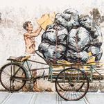 Ipoh Wall Art Murals by Ernest Zacharevic @ Ipoh Old Town