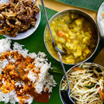 Acha Curry House @ Bukit Gasing PJ: Banana Leaf Rice with Crab Curry
